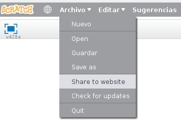 Compartir desde Scratch 2.0 Offline
